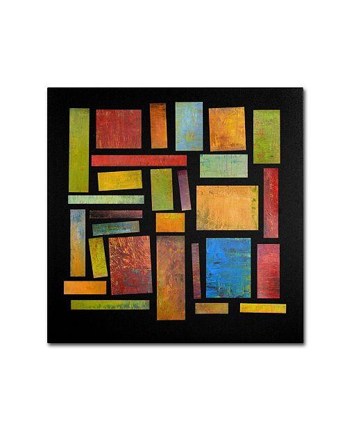 "Trademark Global Michelle Calkins 'Building Blocks Three' Canvas Art - 24"" x 24"""