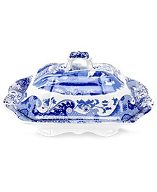 Dinnerware, Blue Italian Covered Vegetable Dish
