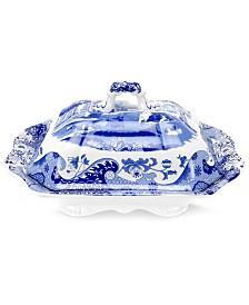 Spode Dinnerware, Blue Italian Covered Vegetable Dish