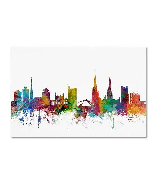 "Trademark Global Michael Tompsett 'Coventry England Skyline' Canvas Art - 22"" x 32"""