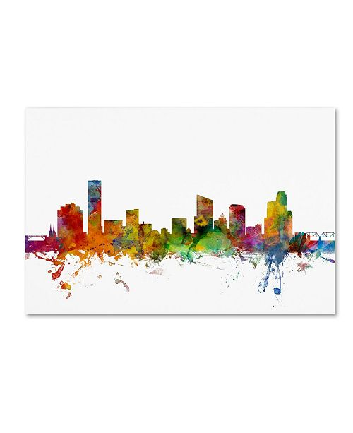"Trademark Global Michael Tompsett 'Grand Rapids Michigan Skyline' Canvas Art - 30"" x 47"""