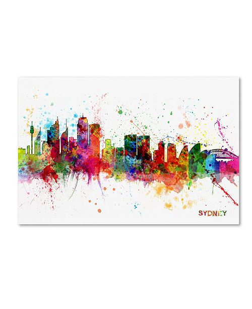 "Trademark Global Michael Tompsett 'Sydney Australia Skyline II' Canvas Art - 30"" x 47"""