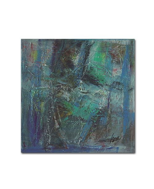 "Trademark Global Shana Dominguez 'Gathering Objects II' Canvas Art - 14"" x 14"""