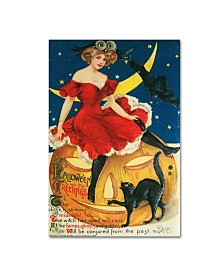 "Vintage Apple Collection 'Halloween Red Dress Large' Canvas Art - 12"" x 19"""