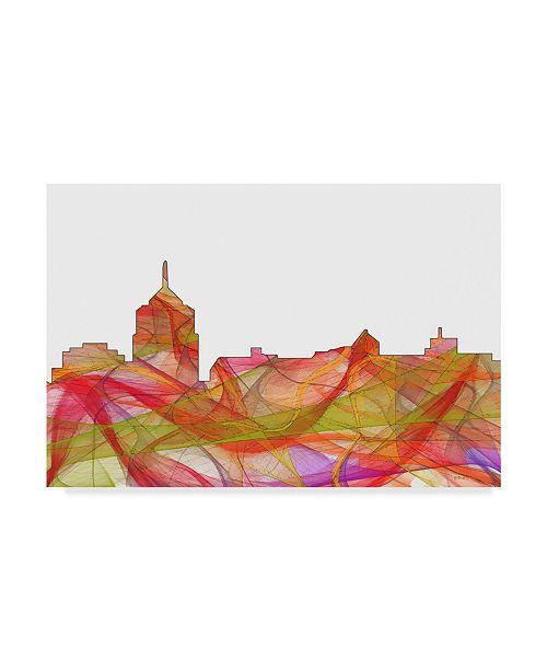 "Trademark Global Marlene Watson 'Roanoke Virginia Skyline Swirl' Canvas Art - 12"" x 19"""