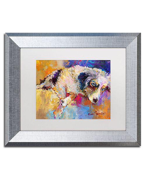 """Trademark Global Richard Wallich 'Marley' Matted Framed Art - 11"""" x 14"""""""