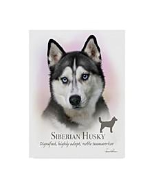 """Howard Robinson 'Siberian Husky' Canvas Art - 14"""" x 19"""""""