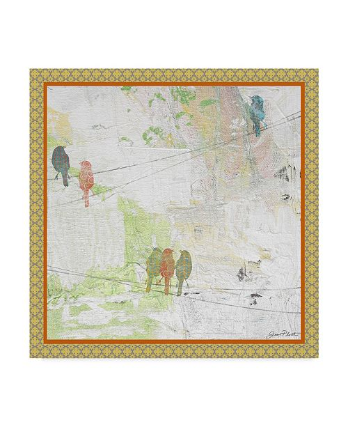 """Trademark Global Jean Plout 'Beautiful Birds On Wires' Canvas Art - 14"""" x 14"""""""