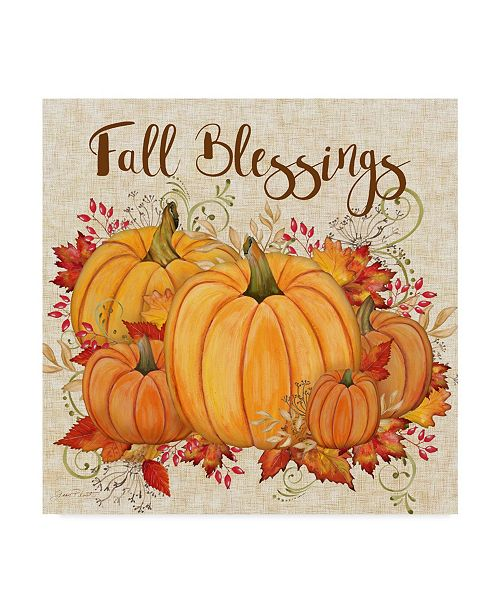 """Trademark Global Jean Plout 'Fall Blessings' Canvas Art - 14"""" x 14"""""""