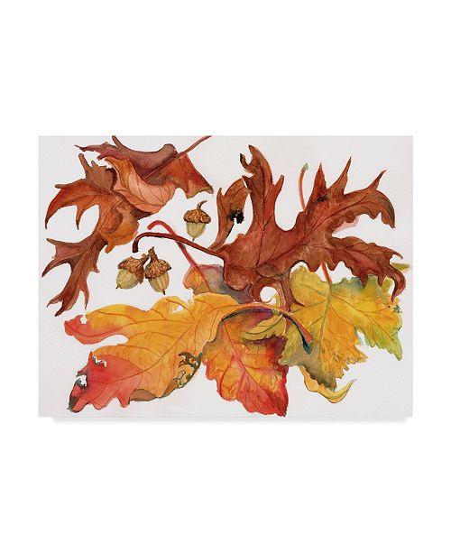 "Trademark Global Joanne Porter 'Leaves And Acorns' Canvas Art - 14"" x 19"""