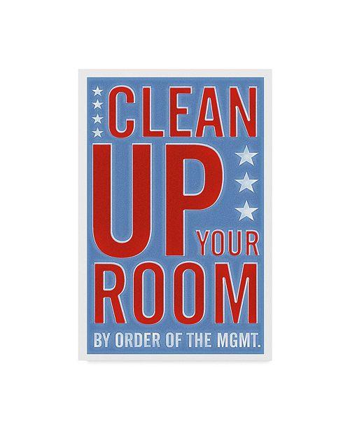 "Trademark Global John W. Golden 'Clean Up Your Room' Canvas Art - 12"" x 19"""