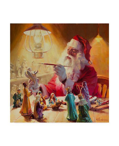 "Trademark Global Steve Henderson 'Santa More Than Toys' Canvas Art - 14"" x 14"""