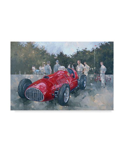 """Trademark Global Peter Miller '1951 Ferrari' Canvas Art - 12"""" x 19"""""""