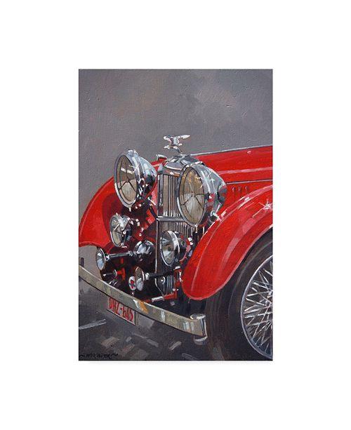 "Trademark Global Peter Miller 'Red Sp.25 Alvis' Canvas Art - 12"" x 19"""