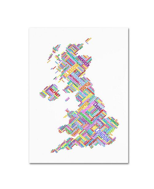 "Trademark Global Michael Tompsett 'United Kingdom IV' Canvas Art - 14"" x 19"""