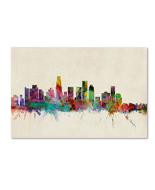 "Trademark Global Michael Tompsett 'Los Angeles, California' Canvas Art - 14"" x 19"""
