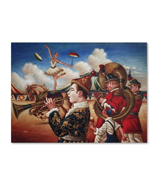 "Trademark Global Edgar Barrios 'Circus Hit Parade' Canvas Art - 14"" x 19"""