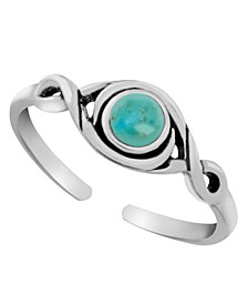 Sterling Silver Antique Turquoise Adjustable Toe Ring