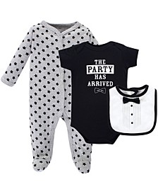 Baby Sleeper, Bodysuit and Bib, 3 Piece Set