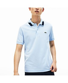 Lacoste Men's Jacquard Collar Polo Shirt