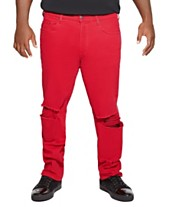 b6128b36854 MVP Collections Distressed Red Denim Jean