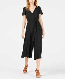 Michael Michael Kors Pleated Wide-Leg Jumpsuit