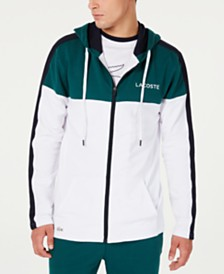 Lacoste Men's Colorblocked Pajama Hoodie, Created for Macy's