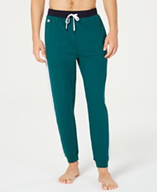 Lacoste Men's Colorblocked Logo-Stripe Jogger Pajama Pants, Created for Macy's