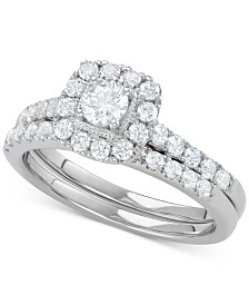 Diamond Halo Bridal Set (1 ct. t.w.)
