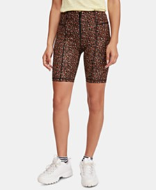 Free People Movement Lucky Strike Printed Bike Shorts