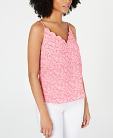 CeCe Sakura Delight Scalloped-Neck Camisole