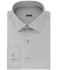 UNLISTED Men's Classic/Regular Fit Easy-Care Stripe Dress Shirt