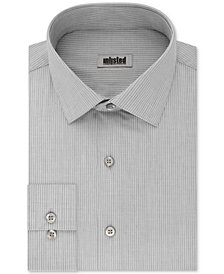 Kenneth Cole UNLISTED Men's Classic/Regular Fit Easy-Care Stripe Dress Shirt