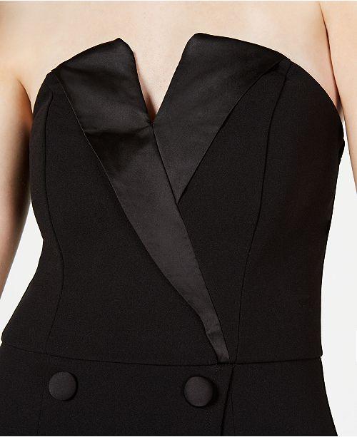 90bcb604ad6 Trixxi Juniors' Asymmetrical Tuxedo Dress & Reviews - Dresses ...