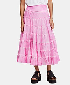 Stuck In A Moment Cotton Tiered Skirt
