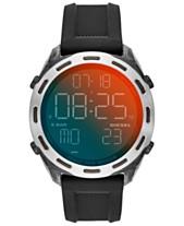 19bfae979 Diesel Men's Digital Crusher Black Silicone Strap Watch 46mm