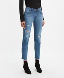Levi's® New Boyfriend Distressed Tapered-Leg Jeans