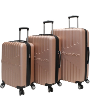 BCBGeneration Signature 3-Piece Hardside Spinner Luggage Set