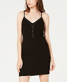 Juniors' Studded Bodycon Dress