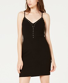 City Studios Juniors' Studded Bodycon Dress