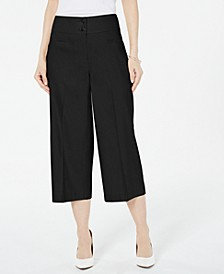 Petite Wide-Leg Linen Pants, Created For Macy's