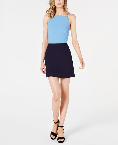 French Connection Whisper Colorblock Dress