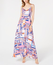 foxiedox Printed Maxi Gown