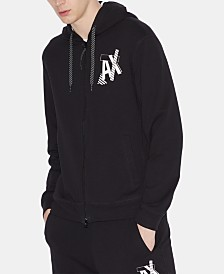 Armani Exchange Men's Zip-Front Logo Graphic Sweatshirt