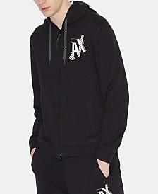 Armani Exchange Men's Zip-Front Logo Graphic Sweatshirt