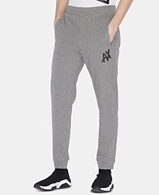 A|X Armani Exchange Men's Logo Graphic Fleece Joggers