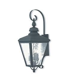 Livex Cambridge 3-Light Outdoor Wall Lantern