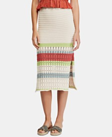 Free People Far From Here Midi Skirt