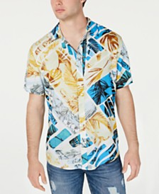 GUESS Men's Rogan Beach Shack Shirt