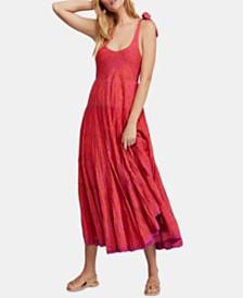 Free People Kikas Printed Cotton Midi Dress